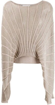 Stella McCartney cape-style knitted top