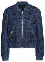 Needle & Thread Embroidered Denim Bomber Jacket