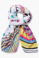 Desigual White Multicolored Scarf