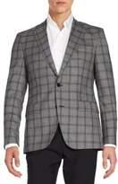 HUGO BOSS Jayden Windowpane Check Virgin Wool Sportcoat