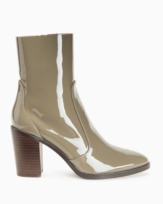 Splendid Roselyn Patent Stacked Heel Sock Boot
