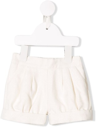 Chloé Kids Textured Shorts