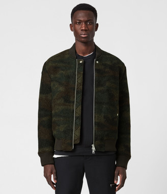 AllSaints Bastion Wool Blend Bomber Jacket