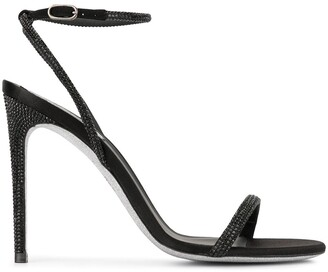 Rene Caovilla beaded heeled sandals