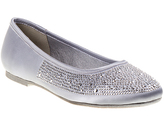 KensieGirl Silver Rhinestone Ballerina Flat - Girls