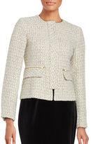 Helene Berman Tweed Concealed Front Zip Jacket