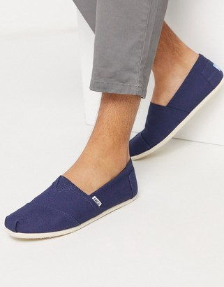 Toms vegan classic espadrilles in navy canvas