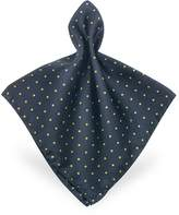 Forzieri Polkadot Twill Silk Pocket Square