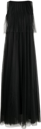 Fabiana Filippi Pleated Tulle Gown