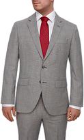 Hackett London Italian Prince Of Wales Check Super 120s Wool Suit Jacket, Grey