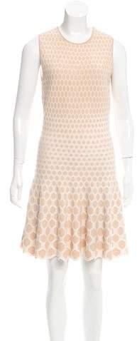 Alexander McQueen Pattern Honeycomb Dress