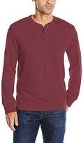 G.H. Bass Men's Carbon Long Sleeve Jersey Henley Shirt