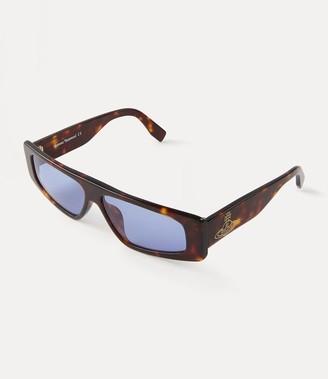 Vivienne Westwood Retro Square Sunglasses Tortoishell