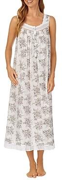 Eileen West Floral Print Cotton Ballet Nightgown