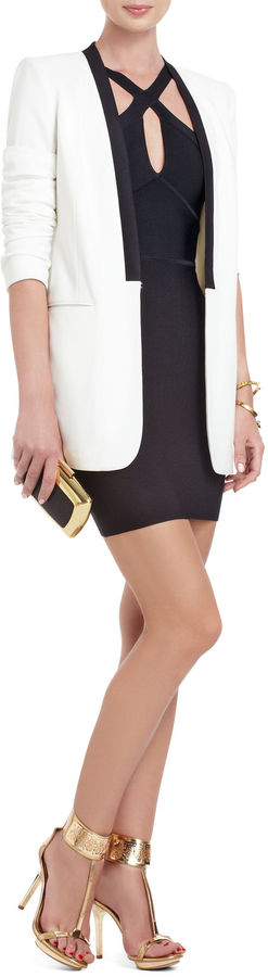 BCBGMAXAZRIA Martha Cross-Strap Dress