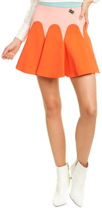 Elisabetta Franchi Crepe Flare Skirt