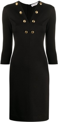 Givenchy Buttoned Detail Fitted Dress