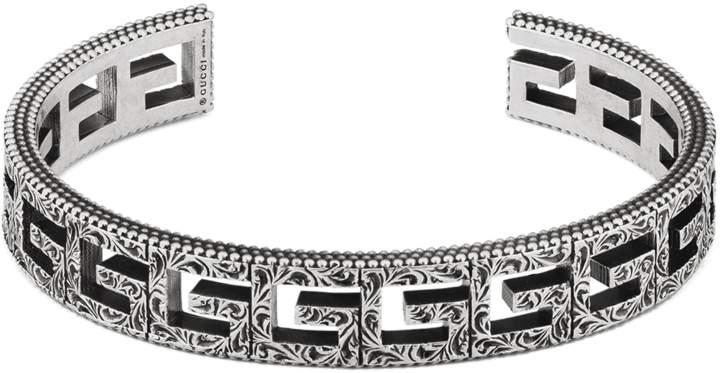 a0a6a51c9461e Silver Cuff Bracelet With Square G Motif