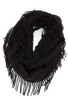BP Rib Knit Fringe Infinity Scarf