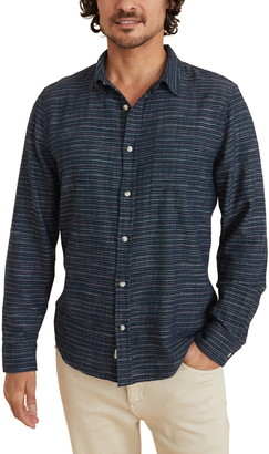 Marine Layer Classic Fit Selvedge Stripe Button-Up Shirt