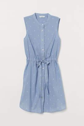 H&M Dress with Tie Belt - Blue