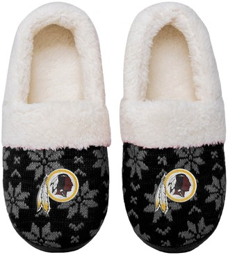 Women's Washington Redskins Ugly Knit Moccasin Slippers
