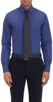 Piattelli MEN'S POPLIN DRESS SHIRT-NAVY SIZE 15