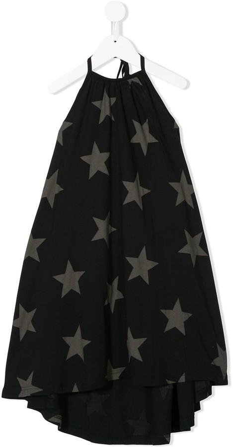 Nununu Star-Print Drawstring Dress