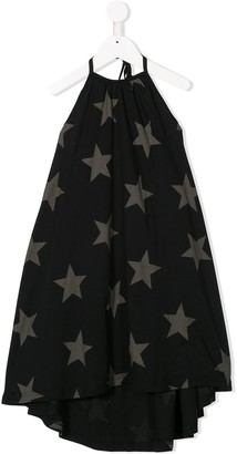 Nununu Star-Print Drawstring Dress