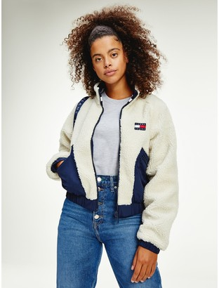 Tommy Hilfiger Reversible Relaxed Fit Sherpa Jacket