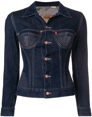 Jean Paul Gaultier Pre Owned Stitched Detailing Denim Jacket