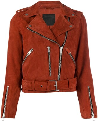 AllSaints Zipped Biker Jacket