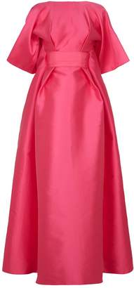 Alexis Mabille Open Back Satin Gown