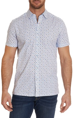 Robert Graham Ambrogi Tailored Fit Printed Woven Shirt