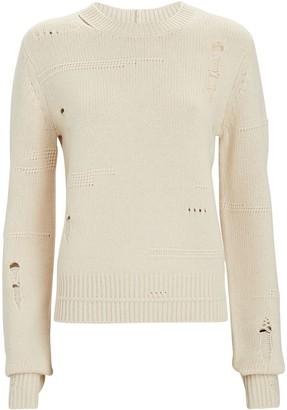 Helmut Lang Distressed Crewneck Sweater