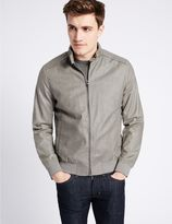 Marks and Spencer Linen Blend Bomber Jacket with StormwearTM