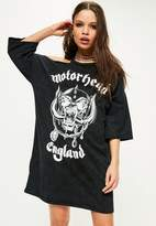 Missguided Motorhead Wash T Shirt Dress