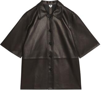 Arket Short-Sleeve Leather Shirt