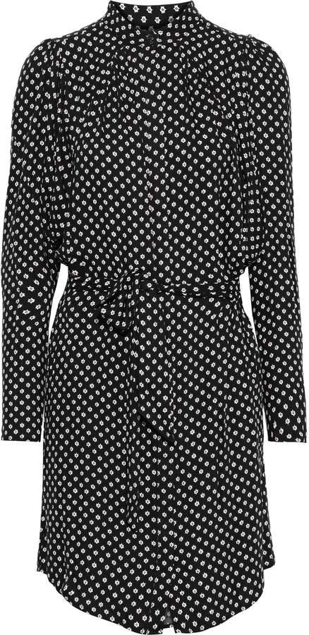 Joie Myune Belted Printed Twill Mini Shirt Dress