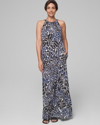 Invisible Support Halter Maxi Dress with Built-In Bra