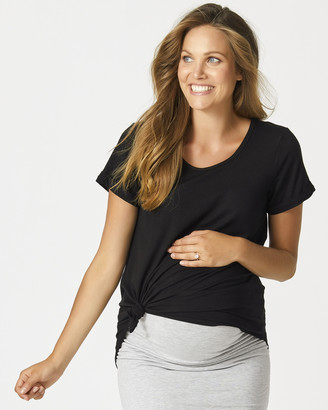Pea in a Pod Maternity - Women's Black Maternity T-Shirts - Lucy Slouch Tee - Size One Size, 8 at The Iconic