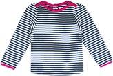 Jo-Jo JoJo Maman Bebe Nautical Stripe Top - Navy Cream Stripe-2-3 Years