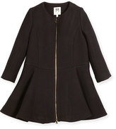 Milly Minis Emma Double-Face Wool-Blend Coat, Size 4-7