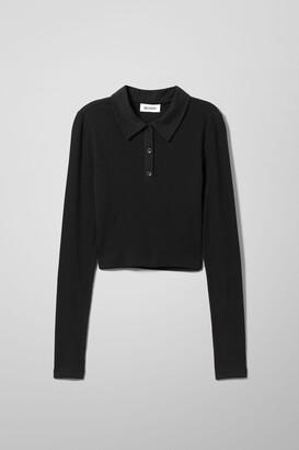 Weekday Erin Polo Long Sleeve - Black