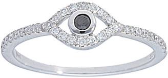 Nephora 14K 0.19 Ct. Tw. Diamond Evil Eye Ring