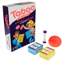 Hasbro Taboo Kids vs. Parents Family Board Game Ages 8 and Up