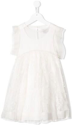 Stella Mccartney Kids Floral Tulle Dress