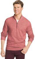 Izod Big & Tall Classic-Fit Marled Quarter-Zip Sweater