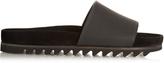 Lanvin Saw-sole leather pool slides