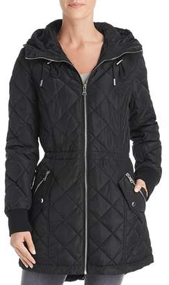 Calvin Klein Hooded Diamond-Quilted Jacket